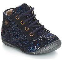 Topánky Dievčatá Polokozačky GBB NICOLE Modrá