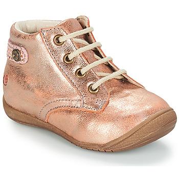 Topánky Dievčatá Polokozačky GBB NICOLE Ružová