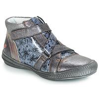Topánky Dievčatá Polokozačky GBB RADEGONDE Girs / Modrá
