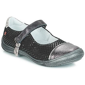 Topánky Dievčatá Balerínky a babies GBB RIKA Čierna / Strieborná