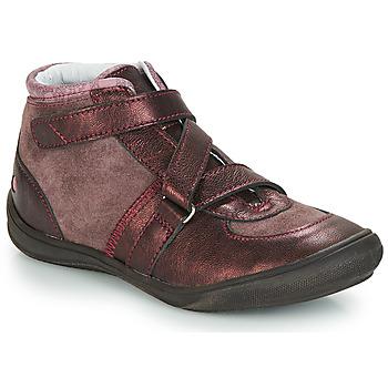 Topánky Dievčatá Polokozačky GBB RIQUETTE Vtc / Ružová-bordová