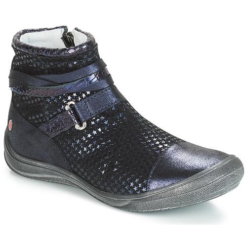 Topánky Dievčatá Polokozačky GBB ROCHELLE Modrá
