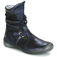Topánky Dievčatá Čižmy do mesta GBB ROSANA Modrá / Čierna