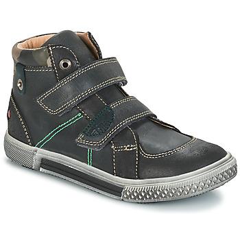 Topánky Chlapci Polokozačky GBB RANDALL Šedo-čierna