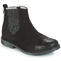Topánky Dievčatá Polokozačky GBB LEONTINA Čierna