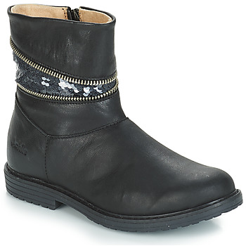 Topánky Dievčatá Čižmy do mesta GBB MAFALDA Čierna