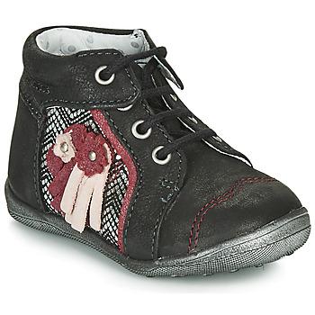 Topánky Dievčatá Polokozačky Catimini RAINETTE Čierna / Strieborná