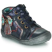 Topánky Dievčatá Polokozačky Catimini RHUBARBE Námornícka modrá