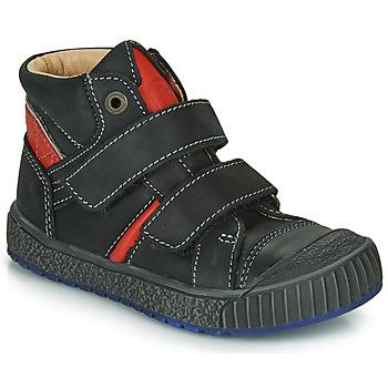 Topánky Chlapci Členkové tenisky Catimini RAIFORT Čierna / Červená