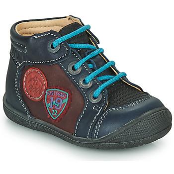 Topánky Chlapci Polokozačky Catimini REGLISSE Námornícka modrá-bordová