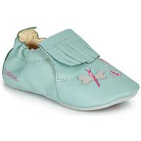 Topánky Dievčatá Papuče Catimini RHIZINE Zelená / Morská modrá