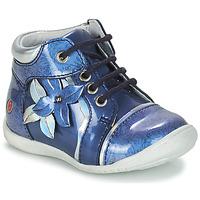 Topánky Dievčatá Polokozačky GBB SONIA Modrá