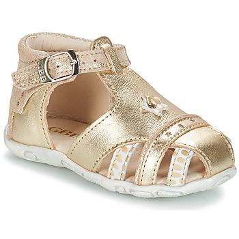 Topánky Dievčatá Sandále GBB SUZANNE Zlatá