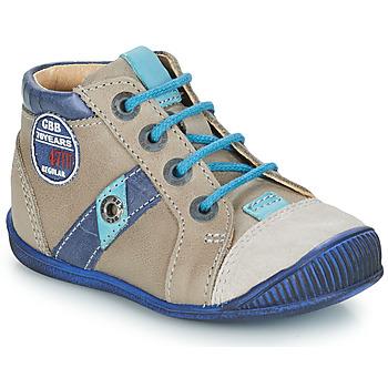 Topánky Chlapci Polokozačky GBB SILVIO Béžová / Modrá