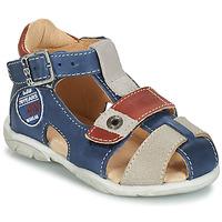 Topánky Chlapci Sandále GBB SULLIVAN Modrá / Béžová / Hnedá