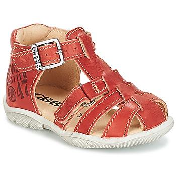 Topánky Chlapci Sandále GBB PRIGENT Červená hrdzavá