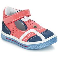 Topánky Dievčatá Balerínky a babies GBB SALVADORE Červená / Modrá