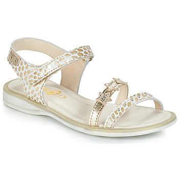 Topánky Dievčatá Sandále GBB SWAN Biela / Zlatá