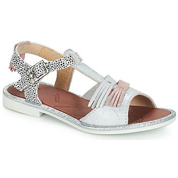Topánky Dievčatá Sandále GBB MARIA Strieborná / Biela