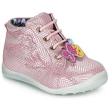 Topánky Dievčatá Polokozačky Catimini SALAMANDRE Ružová-strieborná