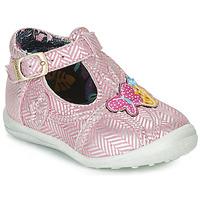 Topánky Dievčatá Polokozačky Catimini SOLEIL Ružová-strieborná