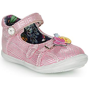 Topánky Dievčatá Balerínky a babies Catimini SITELLE Ružová-strieborná