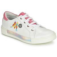 Topánky Dievčatá Členkové tenisky Catimini SYLPHE Bielo-ružová / Biela
