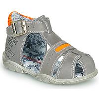 Topánky Chlapci Sandále Catimini SPHINX Šedá-oranžová / Fluorescent
