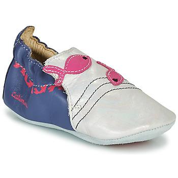 Topánky Dievčatá Papuče Catimini SIRENE Biela / Námornícka modrá / Ružová