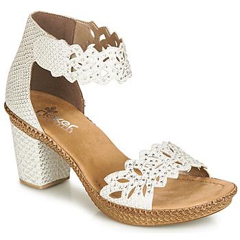 Topánky Ženy Sandále Rieker BELALIER Biela