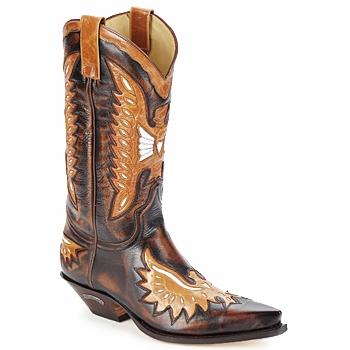 Topánky Muži Čižmy do mesta Sendra boots CHELY Hnedá