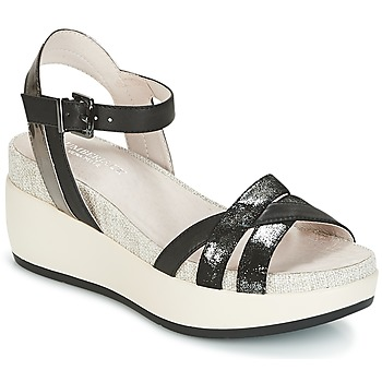 Topánky Ženy Sandále Lumberjack BLANCHE Čierna / Strieborná