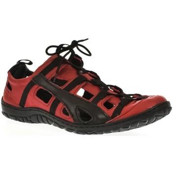 Topánky Muži Športové sandále Krezus Pánske kožené červené topánky VINCENT červená