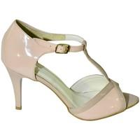 Topánky Ženy Sandále John-C DÁMSKE RUŽOVÉ LAKOVANÉ KOŽENÉ SANDÁLE NOARI ružová