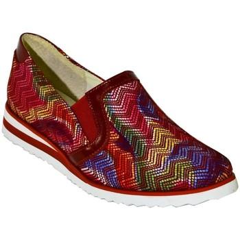 Topánky Ženy Slip-on John-C DÁMSKE ČERVENÉ MOKASÍNY CHRISTINA červená
