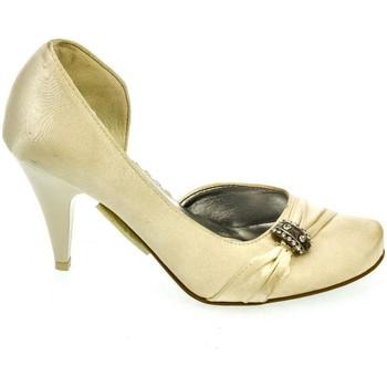 b345bf3c16475 Topánky Ženy Lodičky John-C DÁMSKE BÉŽOVÉ SATÉNOVÉ LODIČKY AURILIA béžová