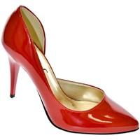 Topánky Ženy Lodičky John-C DÁMSKE ČERVENÉ LAKOVANÉ LODIČKY NAUTI červená