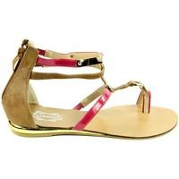 Topánky Ženy Sandále Mermaid RUŽOVÉ NÍZKE SANDÁLE  32-M41426B ružová