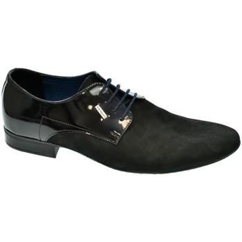 Topánky Muži Richelieu Basso Lavagio PÁNSKE ČIERNO/MODRÉ POLTOPÁNKY OSWALD čierna