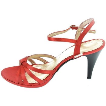 Topánky Ženy Sandále John-C ČERVENÉ SATÉNOVÉ SANDALE ROSSY T82 červená