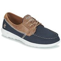 Topánky Ženy Námornícke mokasíny Skechers GO WALK LITE Námornícka modrá