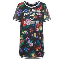 Oblečenie Ženy Krátke šaty Love Moschino W5A0302 Čierna / Viacfarebná