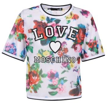 Oblečenie Ženy Blúzky Love Moschino W4G2801 Biela / Viacfarebná