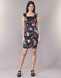 Oblečenie Ženy Krátke šaty Love Moschino WVG3100 Čierna / Viacfarebná