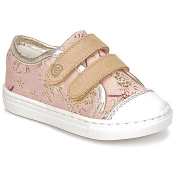 Topánky Dievčatá Nízke tenisky Citrouille et Compagnie INACUFI Ružová / Zlatá