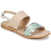 Topánky Dievčatá Sandále Citrouille et Compagnie IOCHARLI Béžová / Modrá
