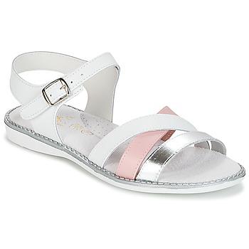 Topánky Dievčatá Sandále Citrouille et Compagnie IZOEGL Biela / Ružová / Strieborná