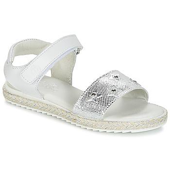 Topánky Dievčatá Sandále Citrouille et Compagnie ILEVANDOK Biela / Strieborná