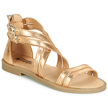 Topánky Dievčatá Sandále Citrouille et Compagnie IMOURAT Zlatá