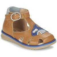 Topánky Chlapci Sandále Citrouille et Compagnie ISKILANDRO Hnedá / Modrá
